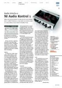 Audio-Interface: NI Audio Kontrol 1