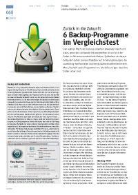 6 Backup-Programme im Vergleichstest