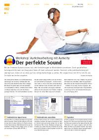 Workshop: Audiobearbeitung mit Audacity