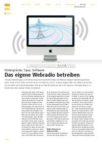 Das eigene Webradio betreiben