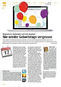 Workshop: Adressbuch, Automator und iCal verzahnt