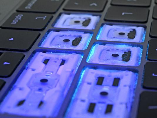 Staub gegen MacBook Pro 2018