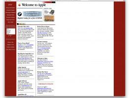 27 Jahre Apple-Homepage: Ein Zeitraffer in Bildern