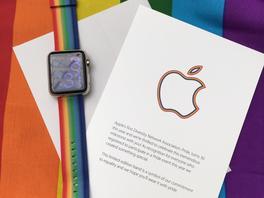 Regenbogen-Armbänder für Apple Watch an Mitarbeiter ausgeteilt