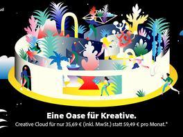 Lasse deine Kreativität wachsen:Jetzt 40 % Rabatt auf Creative Cloud