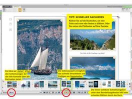 Mit cleveren Tools Fotobuchseiten blättern & bearbeiten
