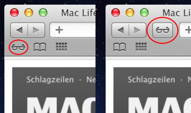 OS X Lion: Leseliste-Icon in Safari verstecken