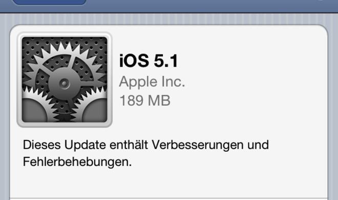 iOS 5.1: Dank Over-the-Air-Bereitstellung bereits auf vielen Geräten installiert