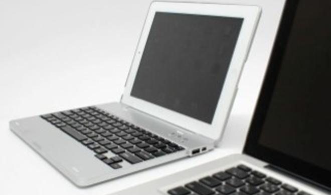 NoteBook Case verwandelt iPad in MacBook Air