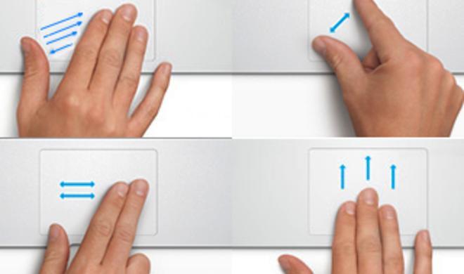 OS X: Multi-Touch-Gesten im Überblick