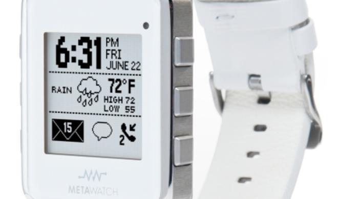 Meta Watch: Intelligente Uhr unterstützt iOS