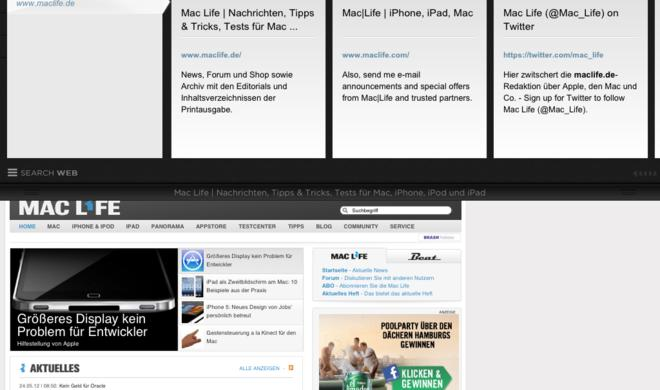 Yahoo veröffentlicht eigenen iOS-Webbrowser Axis