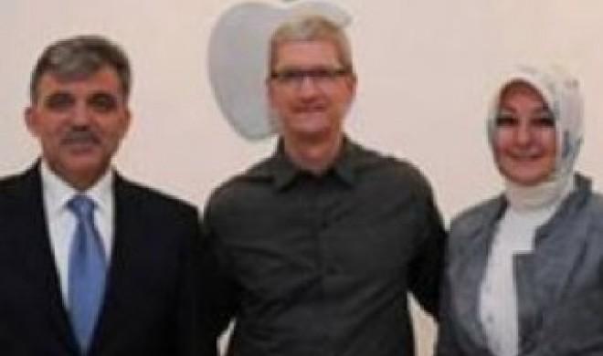 Türkischer Staatspräsident besucht Apple & Tim Cook
