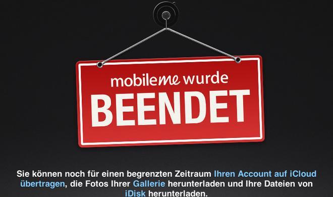 Mobile Me geschlossen, Daten für einen begrenzten Zeitraum verfügbar