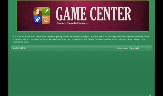 Apple plant Präsentation von Mountain-Lion-Spielen mit Game-Center-Unterstützung