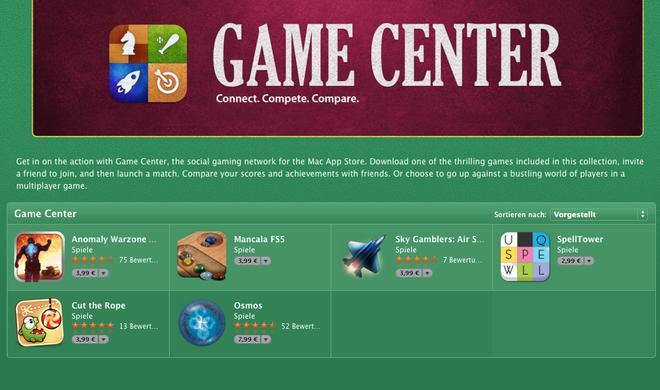 Apple präsentiert Game-Center-Spiele für den Mac