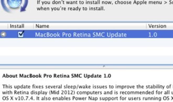 MacBook Pro mit Retina Display: Dank Firmware-Update fit für Power Nap