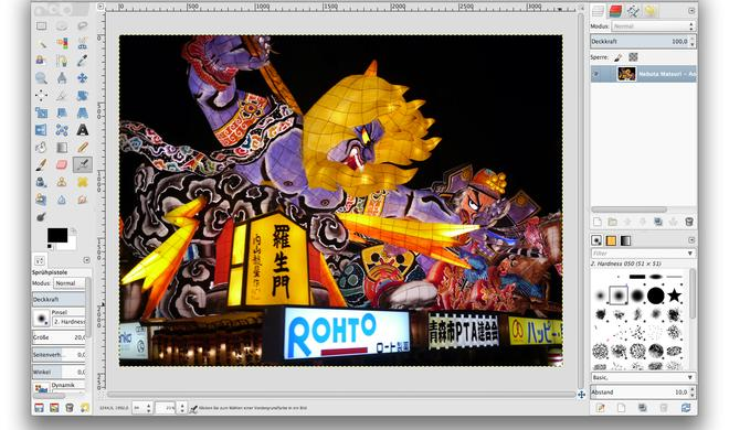 Bildbearbeitung GIMP nun nativ auf dem Mac