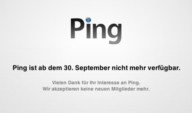 Aus und vorbei: Apple schließt Ping