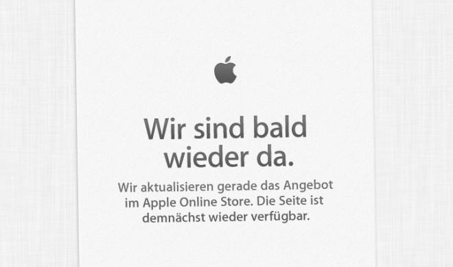"""Vor dem iPad-Event: Apple Store ist offline - """"Wird sind bald wieder da."""""""