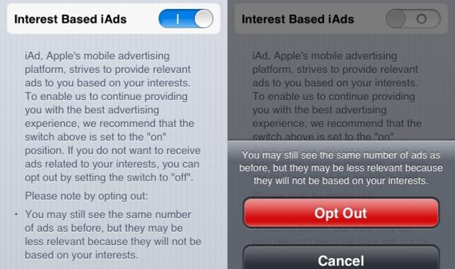 iOS: Interessenbasierte iAd-Werbung deaktivieren