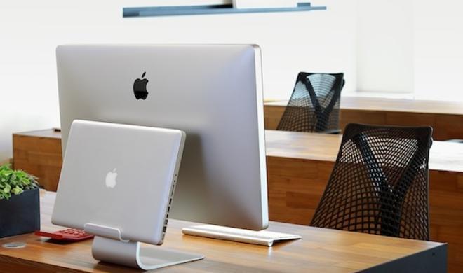 Ordnung auf dem Schreibtisch: Just Mobile präsentiert AluBase und AluRack für MacBooks