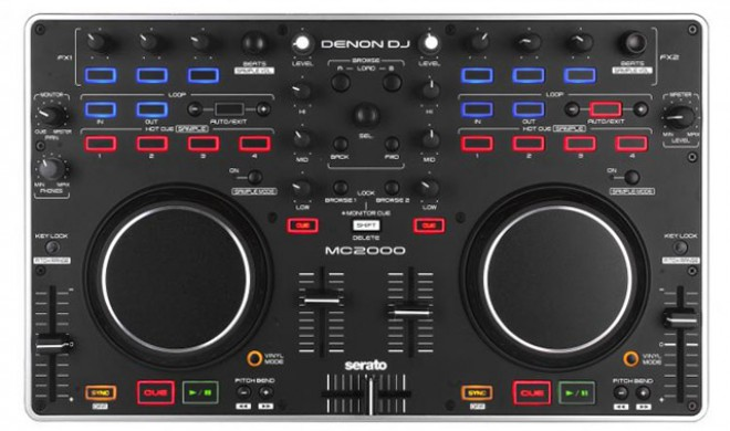 Denon MC2000 - DJ Controller mit Audiointerface