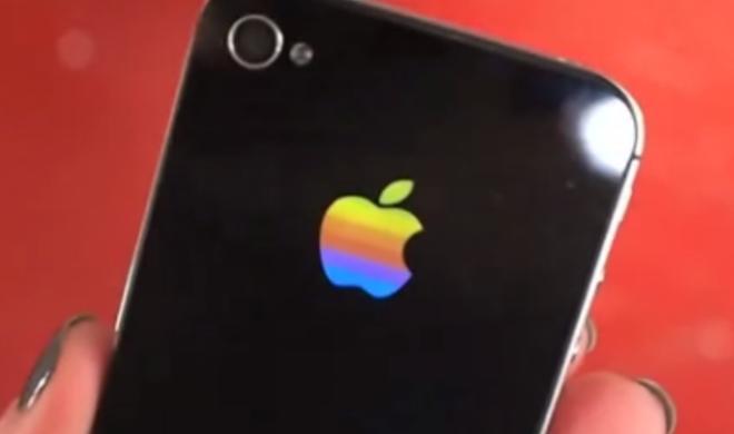 Netzfundstück: Farbiges Apple-Logo für das iPhone