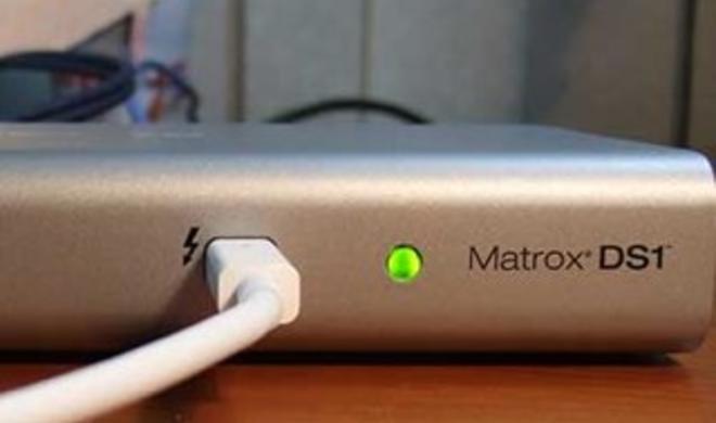 Matrox DS1 Thunderbolt Docking Station ab sofort erhältlich