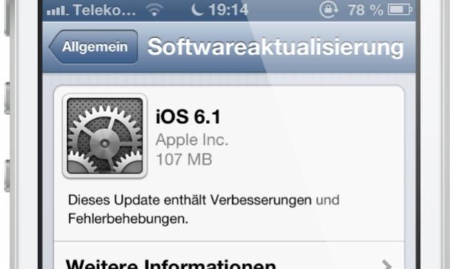 iOS 6.1 bereits auf 22 Prozent aller Geräte