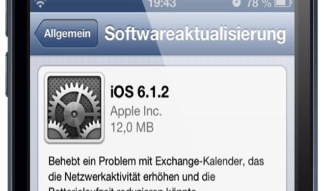 Apple veröffentlicht iOS 6.1.2, Exchange-Bug behoben