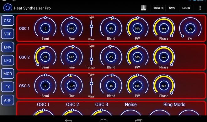 Heat: VA-Synthesizer für die Android-Plattform