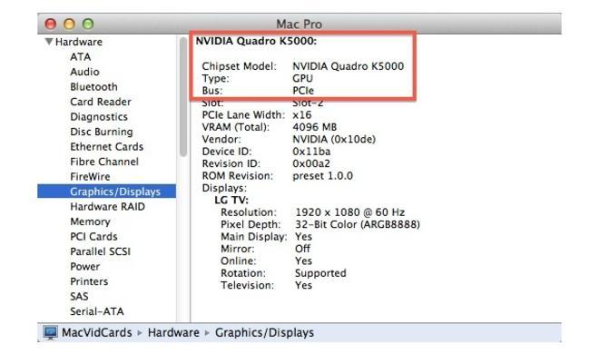 OS X Mountain Lion: Jüngste Beta unterstützt Nvidia Quadro K5000