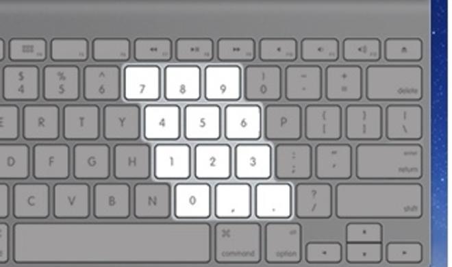 NumLock für OS X: Ziffernblock für kompakte Mac-Tastaturen