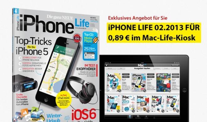 Nur für kurze Zeit: Die iPhone Life 02|2013 zum einmaligen Sonderpreis!