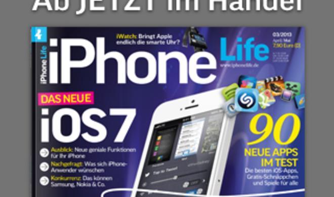 Erster Ausblick auf iOS 7 im Magazin iPhone Life 3.2013