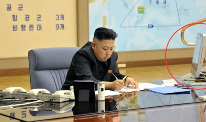 Nordkoreas Diktator Kim Jong-un benutzt einen iMac