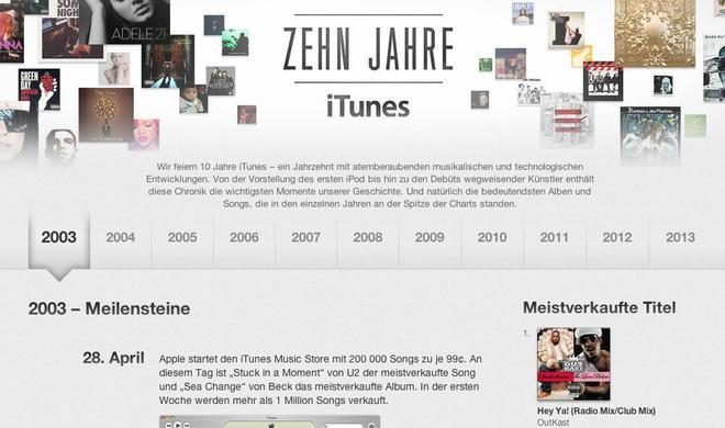 Happy Birthday: Apple feiert 10 Jahre iTunes Store in Deutschland