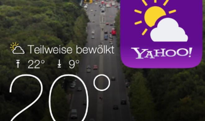 Yahoo veröffentlicht kostenlose Wetter-App für iPhone & iPod touch