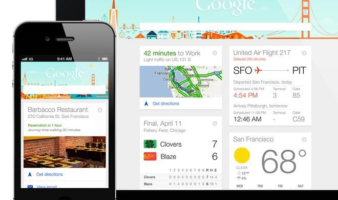 Update für Google-Suche bringt Google Now auf das iPhone und iPad