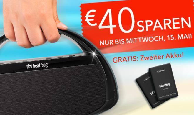 Jetzt 40 Euro sparen mit dem tizi beat bag Sound Summer Deal!