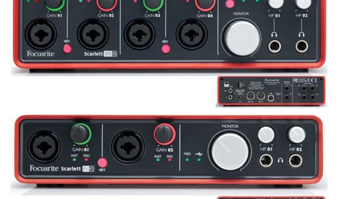 Focusrite Scarlett 6i6 und 18i8 - USB-Audio-Interfaces