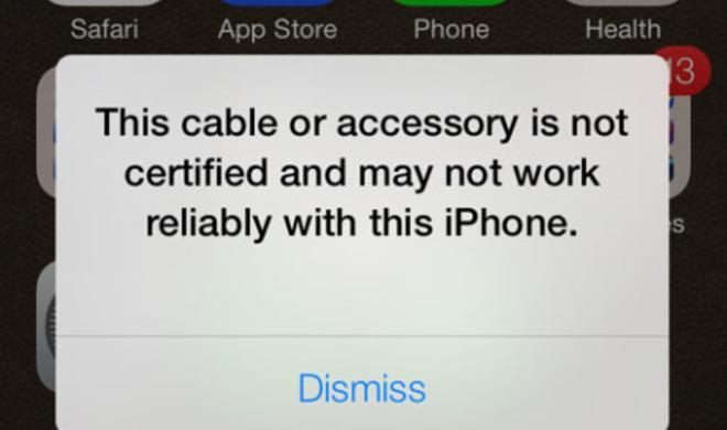 "iOS 7 erkennt ""Fake""-Lightning-Kabel"