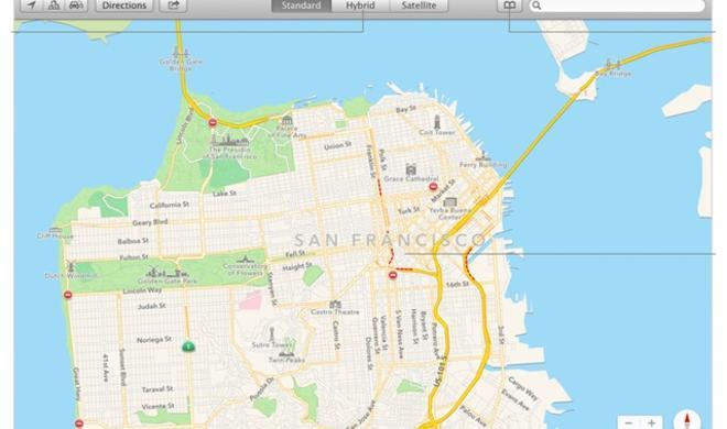 Video: So sieht die neue Karten-App unter OS X Mavericks aus