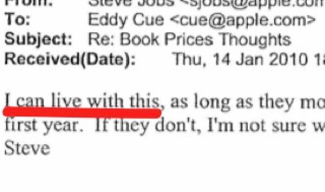 eBook-Prozess: Steve Jobs' nicht versandte E-Mail
