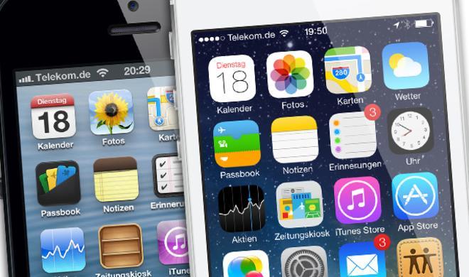 Jede Menge Screenshots: iOS 6 und iOS 7 im großen Vergleich