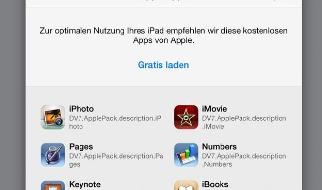 iOS-7-Vorabversion suggeriert kostenlose iWork- und iLife-Apps für alle iPhone- und iPad-Anwender