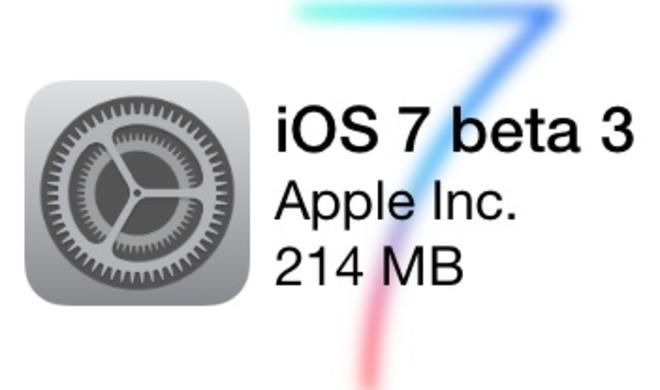 iOS 7: Beta 2 und Beta 3 im Vergleich