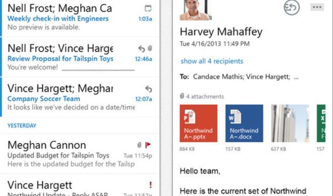 Microsoft veröffentlicht Outlook Web App für Office-365-Kunden