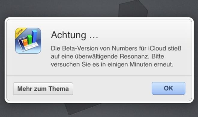 """iWork für iCloud: Apple kämpft mit """"überwältigender Resonanz"""""""